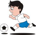 2 เด็กชายวิ่งเกงน้ำเงิน